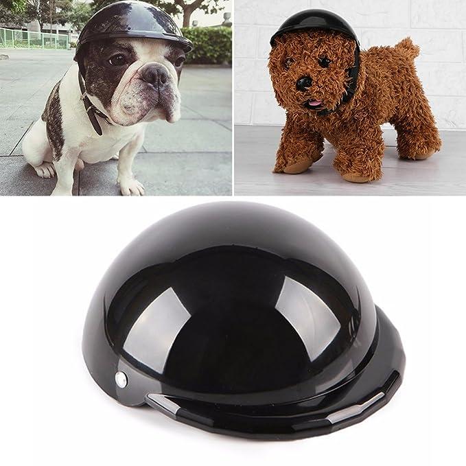 UEETEK Casco de perro Cascos de plástico fresco para mascotas Protección contra la lluvia Gatos Gatos Perros Casco Disfraces Accesorios Suministros para ...