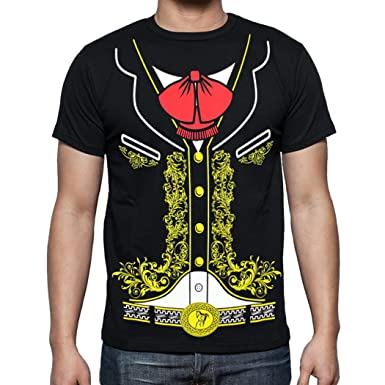 d747bbbf Amazon.com: Viva Mexico Men's Mexican Mariachi Charro Cinco de Mayo Costume  T-Shirt: Clothing