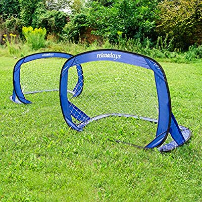 Relaxdays Tor Pop Up 2er 2 porterías de fútbol, Talla 120 x 80 x ...