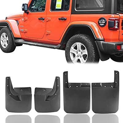 Hooke Road Fender Flares Front & Rear Mud Guards Kit for 2020-2020 Jeep Wrangler JL Sahara Sport Sports (Exclude Rubicon): Automotive