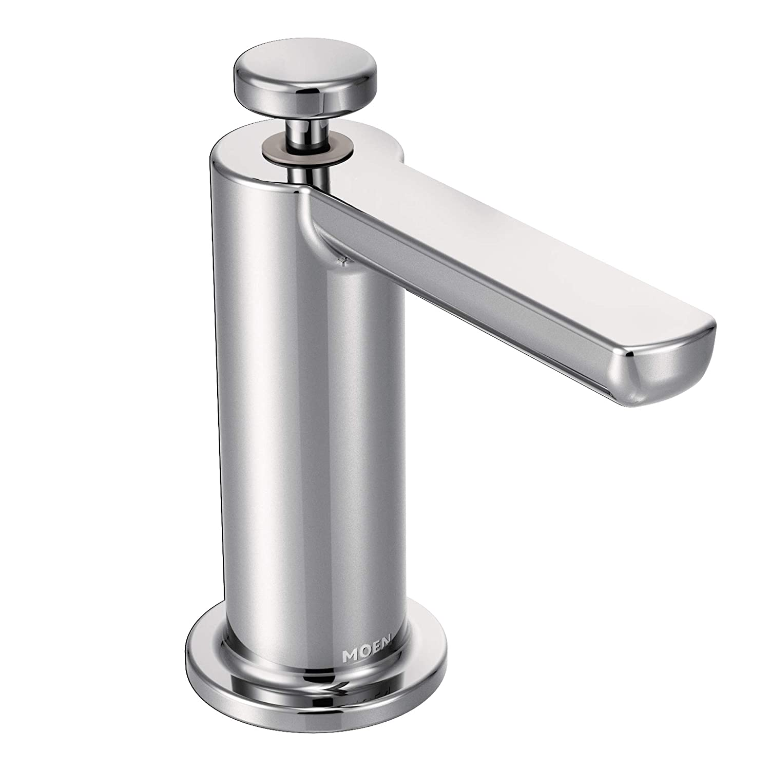 Moen S3947c Modern Deck Mounted Kitchen Soap Dispenser With Above The Sink Refillable Bottle Chrome