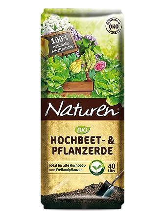 Naturen Bio Hochbeet Pflanzerde 40 Liter Pflanzgranulat Erde
