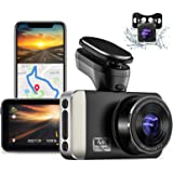 """JOMISE 4K Ultra HD Dual Dash Cam with Built-in Wi-Fi GPS, 2K &1080P Front and Rear Dashcams with 3"""" IPS Screen, HUD Speed Dis"""