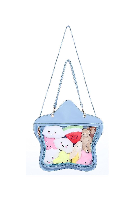Clear Candy Leather Handbag Kawaii Purse Transparent Backpacks Star Crossbody Bags Lolita Ita Bag