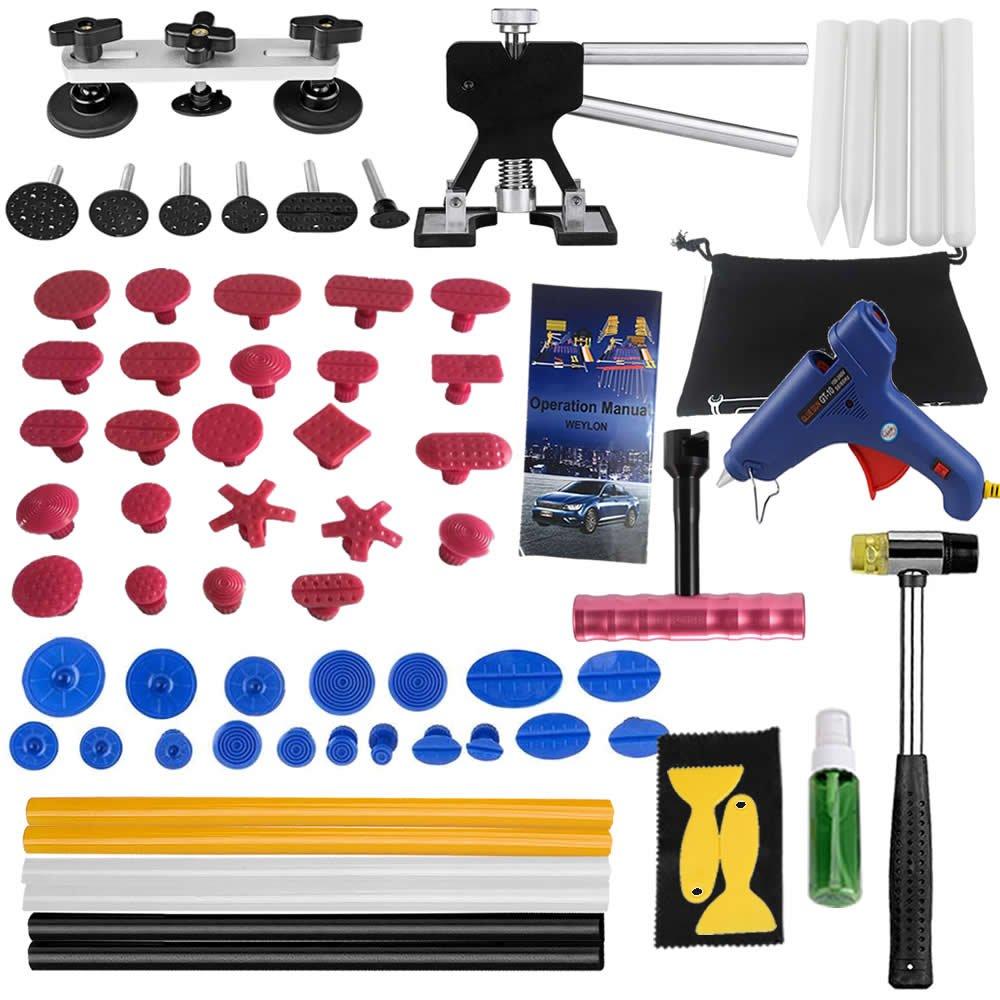 Weylon Set 5pcs 11mm*255mm Hight-quailty Yellow hot melt glue stick PDR Paintless tools Dent Repair Tools