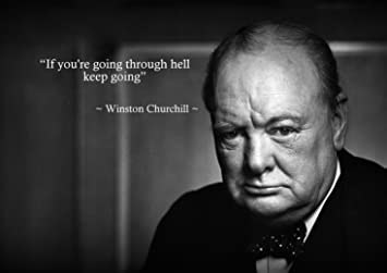 Winston Churchill Quote Inspirational Poster Print Picture 5 A3