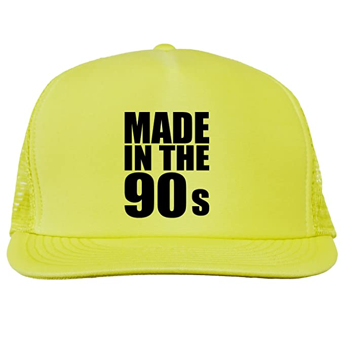 bad1d765d30 Made in the 90s Bright neon truckers mesh snap back hat in Neon Blue - One  Size at Amazon Men s Clothing store