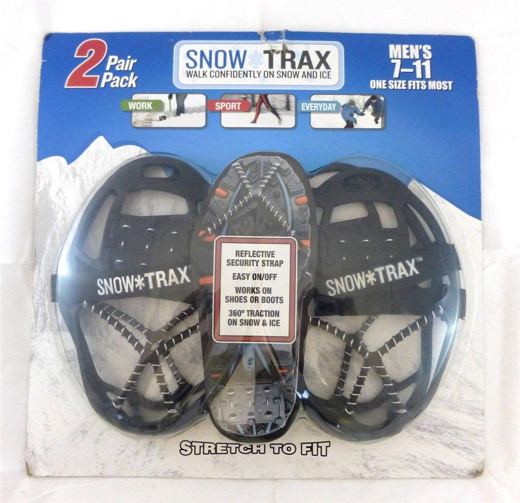 2 Pair Snow Trax Mens 8-12
