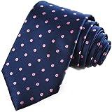 KissTies Polka Dot Tie Mens Necktie Wedding Ties + Gift Box