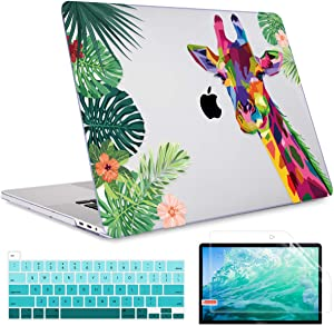 """May Chen Laptop case for MacBook Pro 16 inch case Model A2141 2019 Release, Plastic Hard Shell Case for MacBook Pro 16"""" with Retina Touch Bar Fits Touch ID Keyboard cvoer - Forest Giraffe"""
