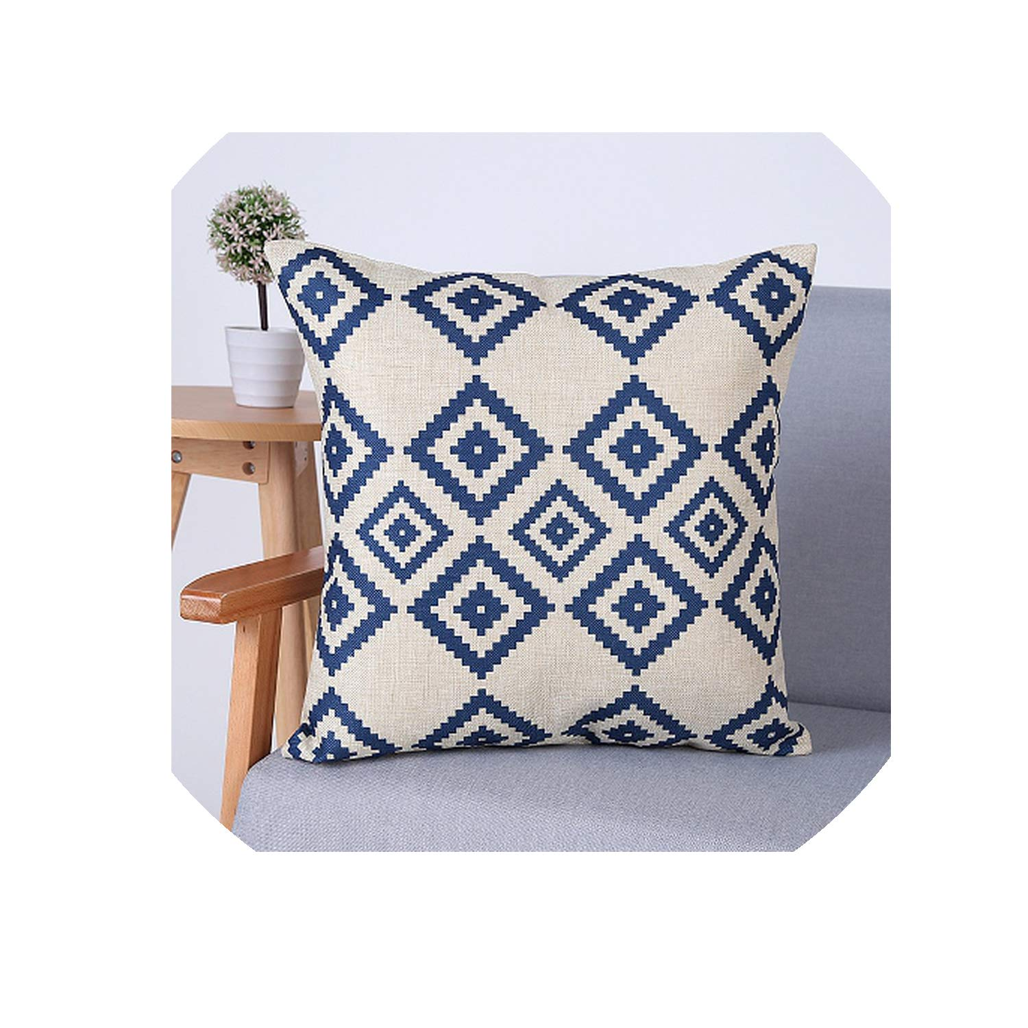 Amazon.com: Geometric Cushion Cover Decorative Throw Pillows ...