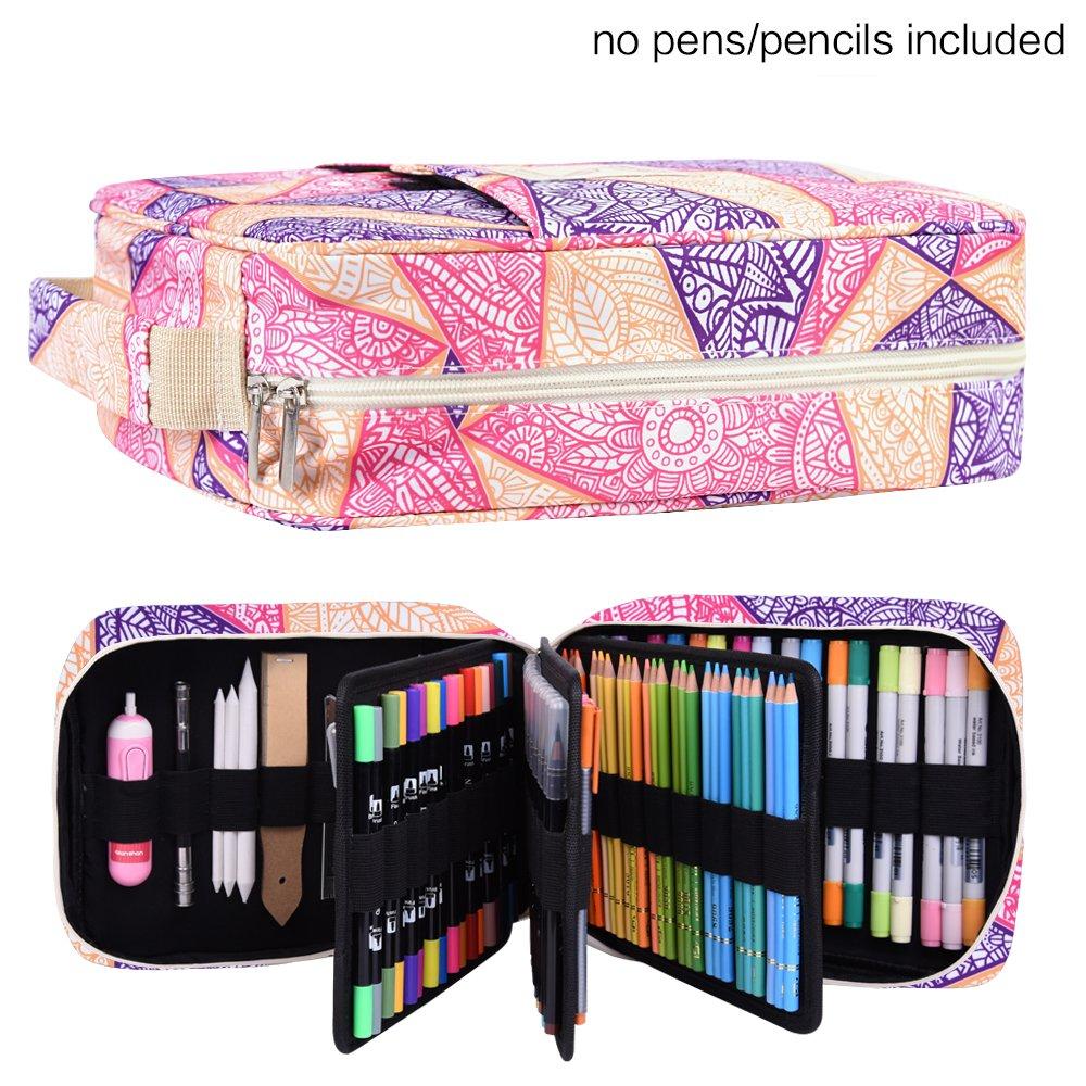 色鉛筆202色カラーペン136色セット qianshan B078PDK5LM Mandala-PURPLE202 Mandala-PURPLE202