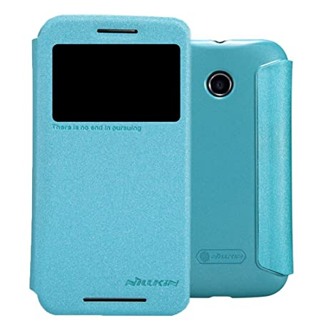 new style 88c4e bf150 NILLKIN BLUE LEATHER FLIP COVER CASE price at Flipkart, Snapdeal ...