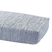 Ethan Allen   Disney Paint Stripe Crib Sheet, Midnight (Navy)