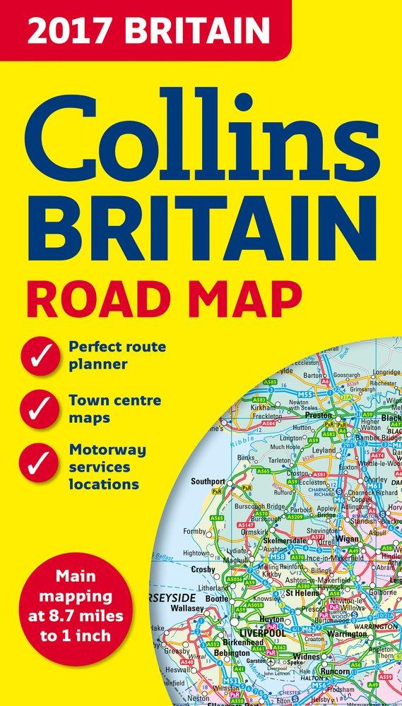 2017 Collins Britain Road Map Collins UK 9780007955114 Amazon