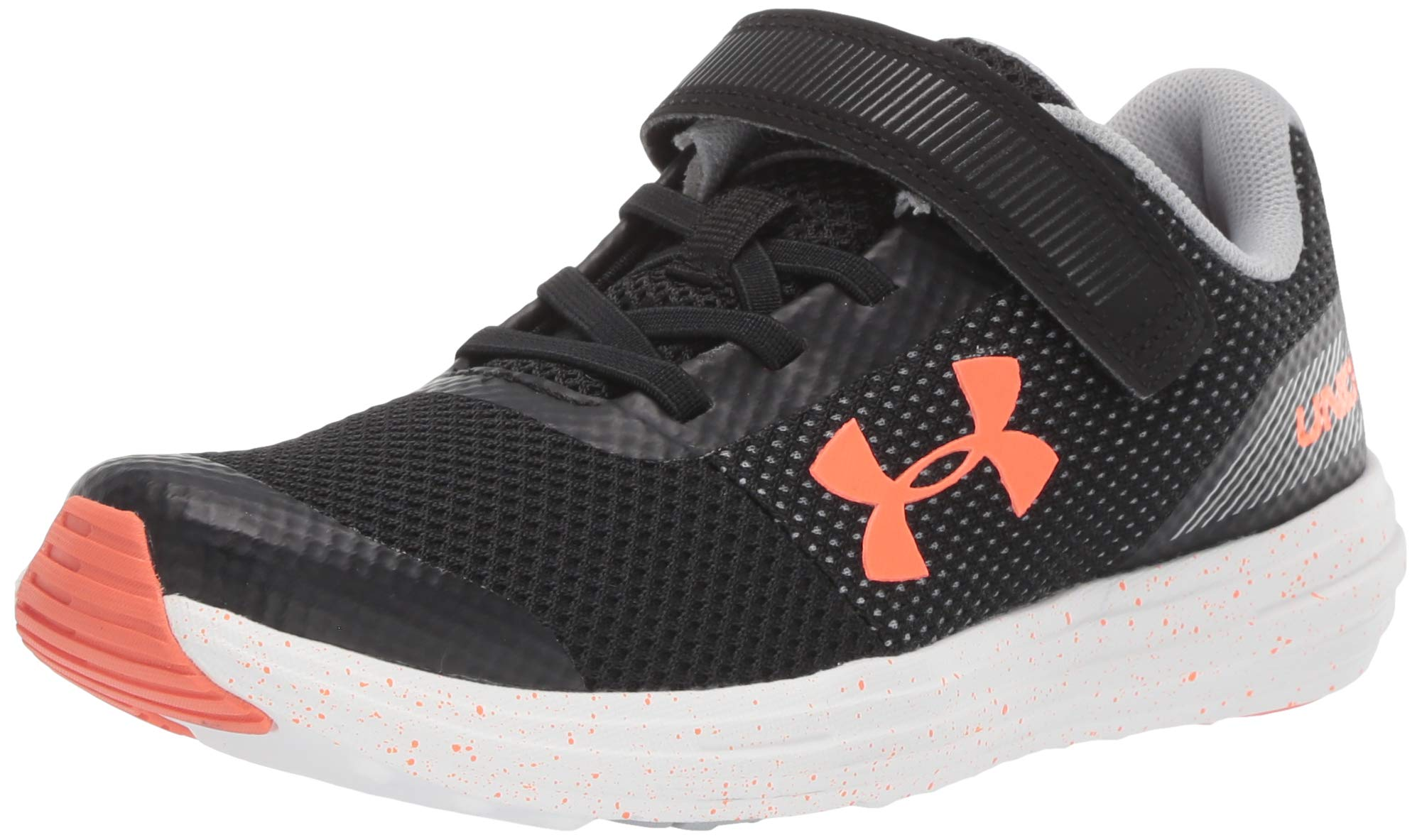 Under Armour Boys' Pre School Surge RN Alternate Closure Sneaker, Black (003)/White, 1