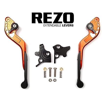 REZO V2 Extensible naranja Ajustable CNC Motocicleta ...