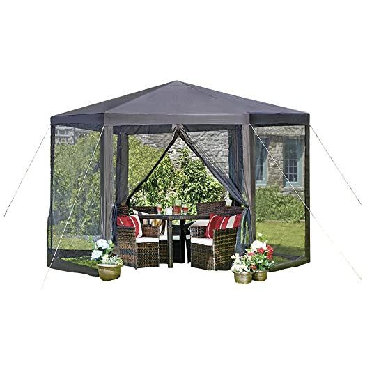 Large Hexagon Gazebo W36m X H25m Hexagonal Marquee Awning Party Event Shelter