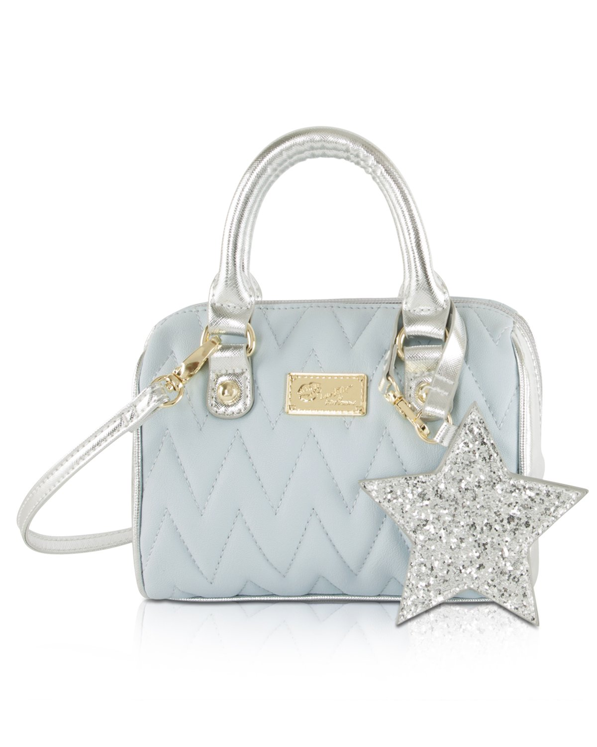 Luv Betsey Johnson Harlii Chevron Mini Crossbody Satchel Bag - Powder Blue