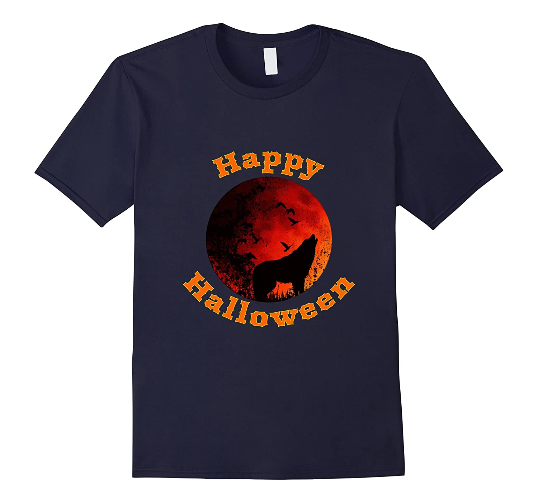 Wolf Happy Halloween T shirt-FL