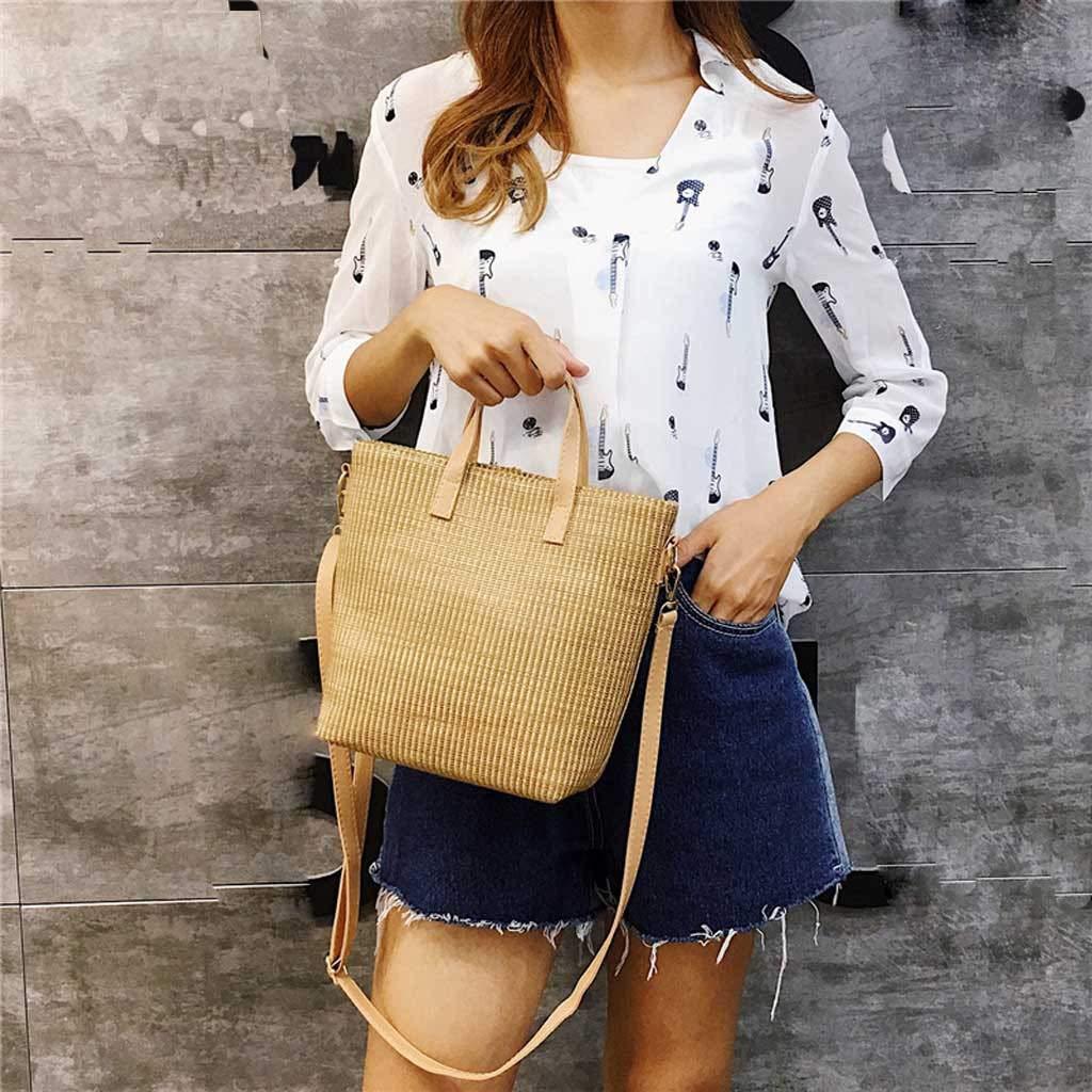 2de522179b4b Amazon.com: Midress Messenger Bag Fashion Lady Vine Grass Straw ...