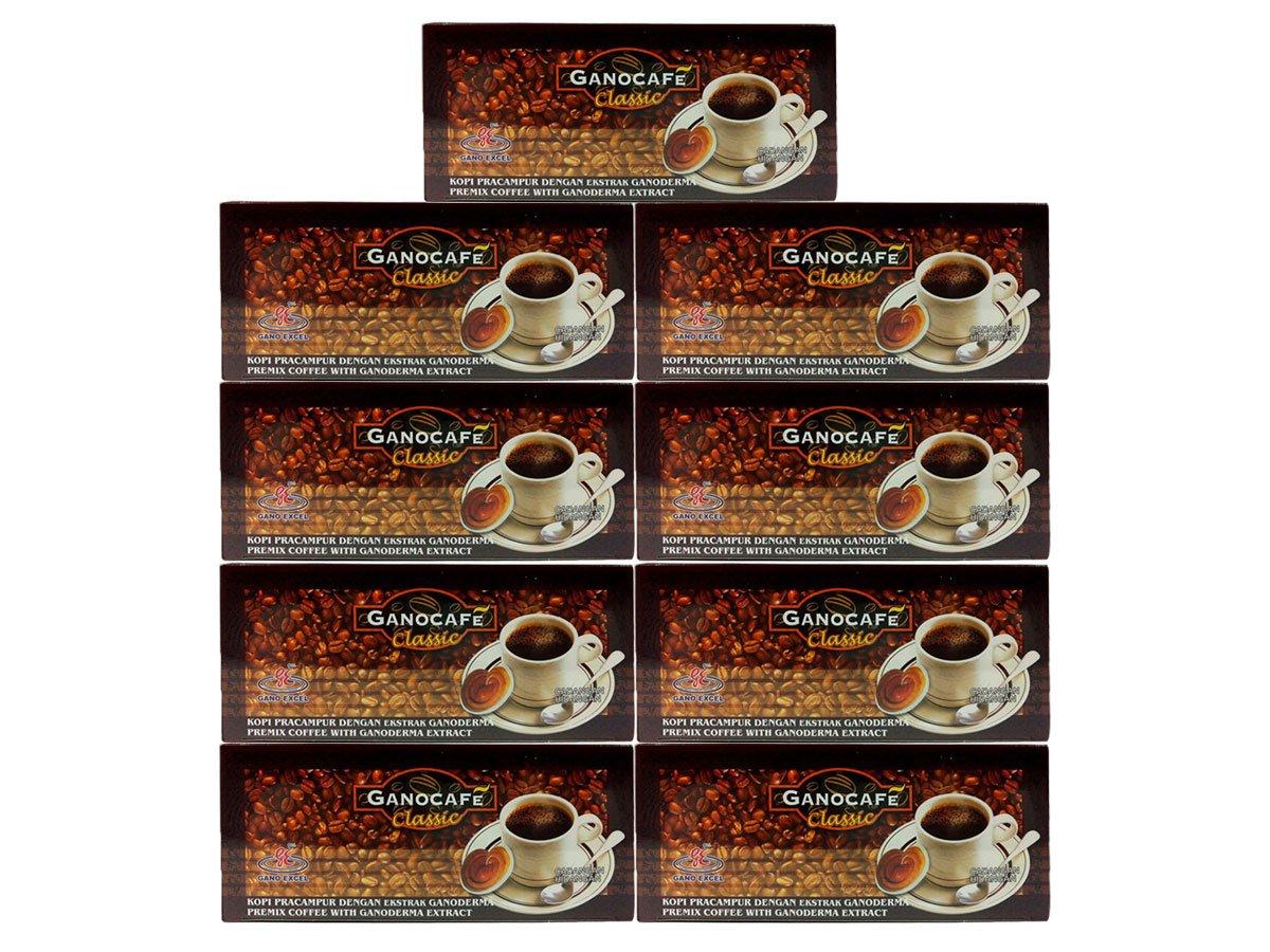 Gano Excel GanoCafe Classic Instant Black Healthy Coffee Ganoderma Lucidum Extract ( 1 Box = 30 sachets ) (9x30)