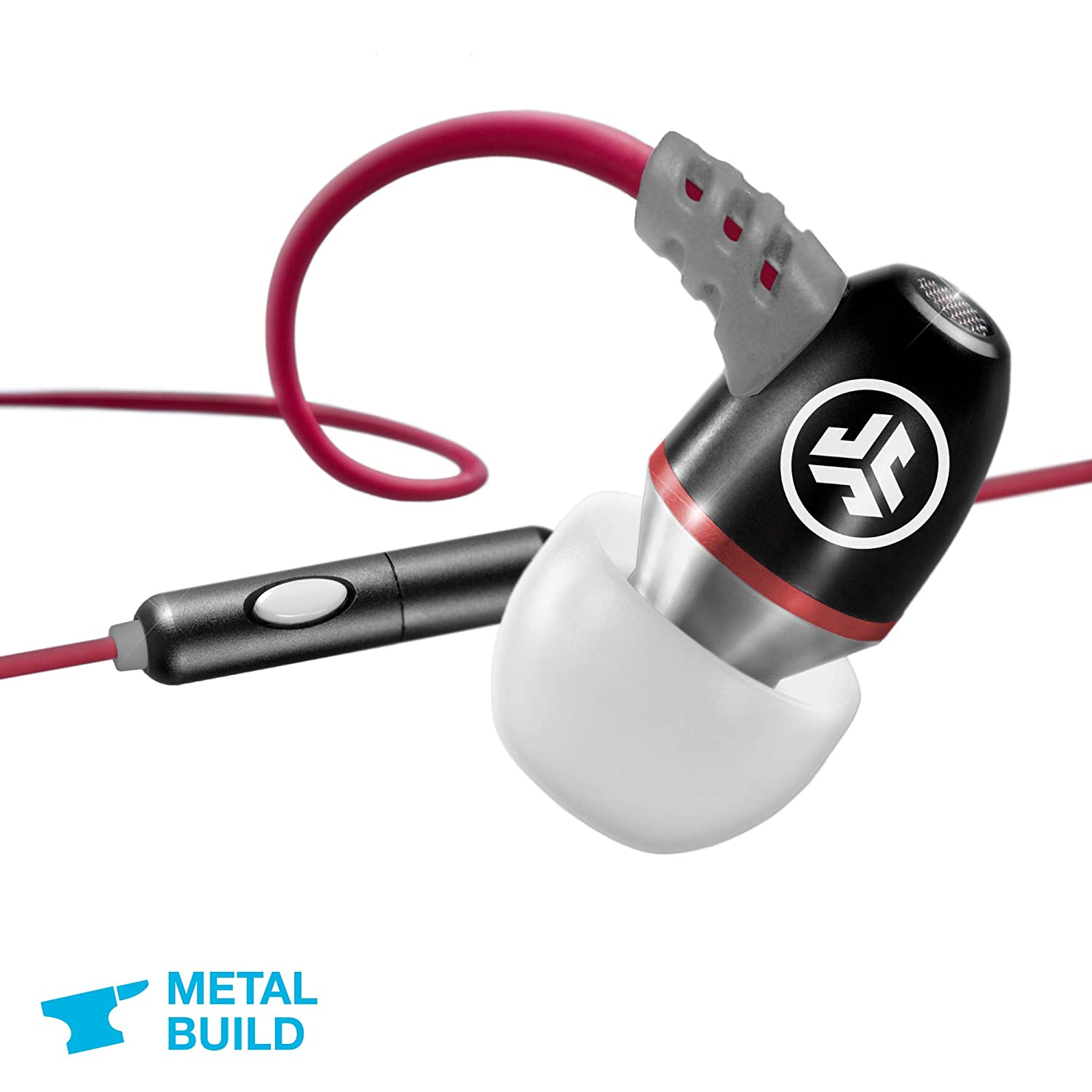 JLab Audio JBuds Metal In-Ear Earbuds with Universal Mic for iPhone & Android, GUARANTEED FOR LIFE- Sneaker