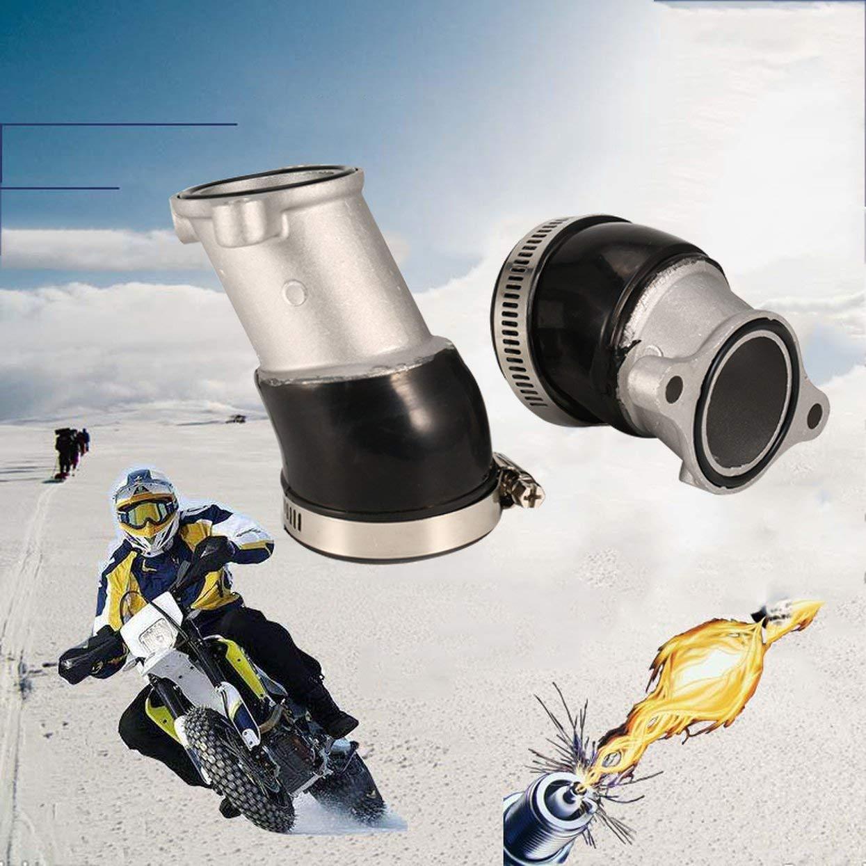 Tellaboull for Carburatore Collettori di aspirazione CX500 con guarnizioni per Stivali Adatti per Honda Carb Holders Kit Accessori per Moto Car-Styling