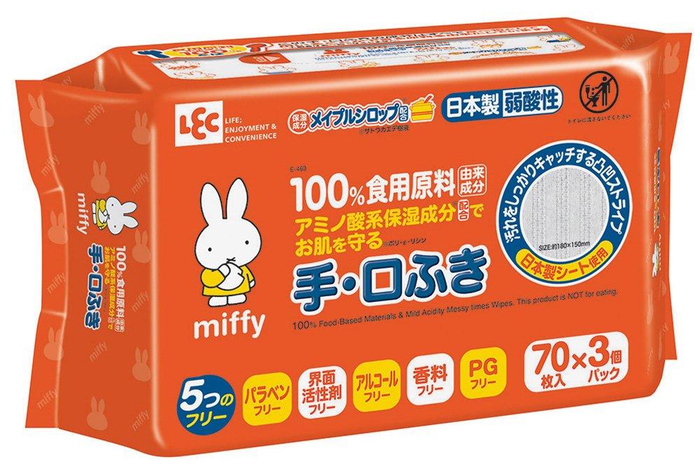 LEC 食用原料由来100% 手・口ふき 厚手シート
