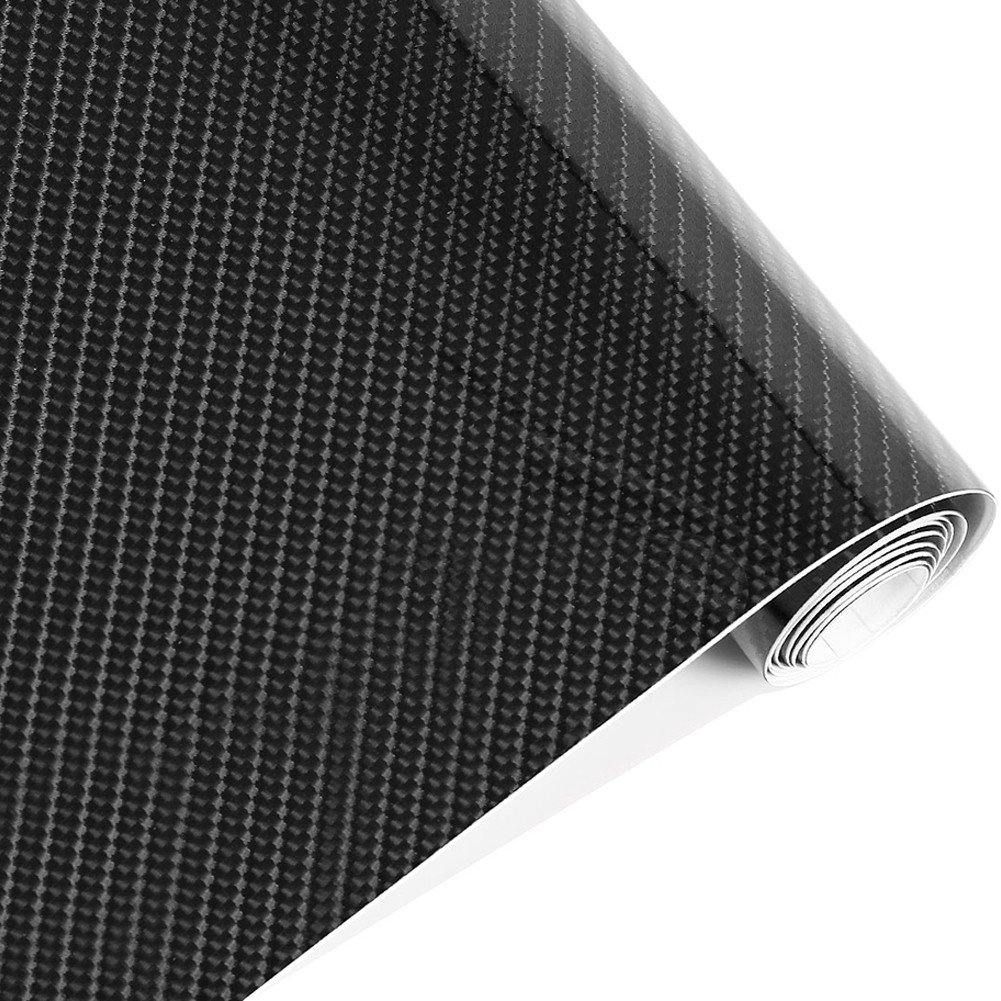 Impermé able 152 cmx50 cm 5d en fibre de carbone Noir Rouleau de papier Feuille de film de vinyle Auto Voiture Dé cor Autocollant AUTOOL