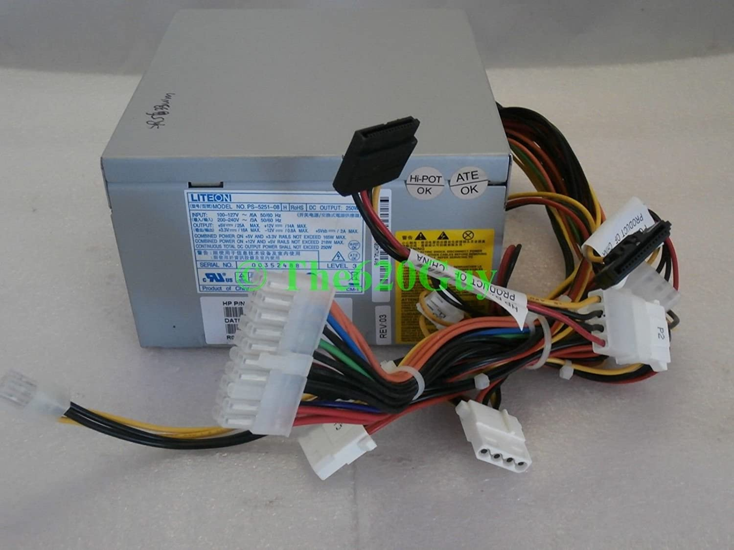 HP Compaq Pavilion Presario 250W ATX Power Supply 5188-2622 Lite-On PS-5251-08 H