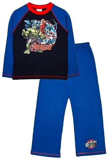 The Avengers - Pijama Dos Piezas - Manga Larga - para niño Azul Avengers - 6 Character Circle 7-8 Años: Amazon.es: Ropa y accesorios