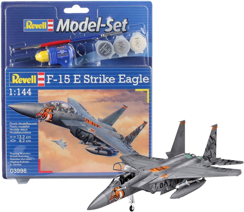 Revell - Maqueta Modelo Set F-15E Strike Eagle, Escala 1:144 (63996): Amazon.es: Juguetes y juegos