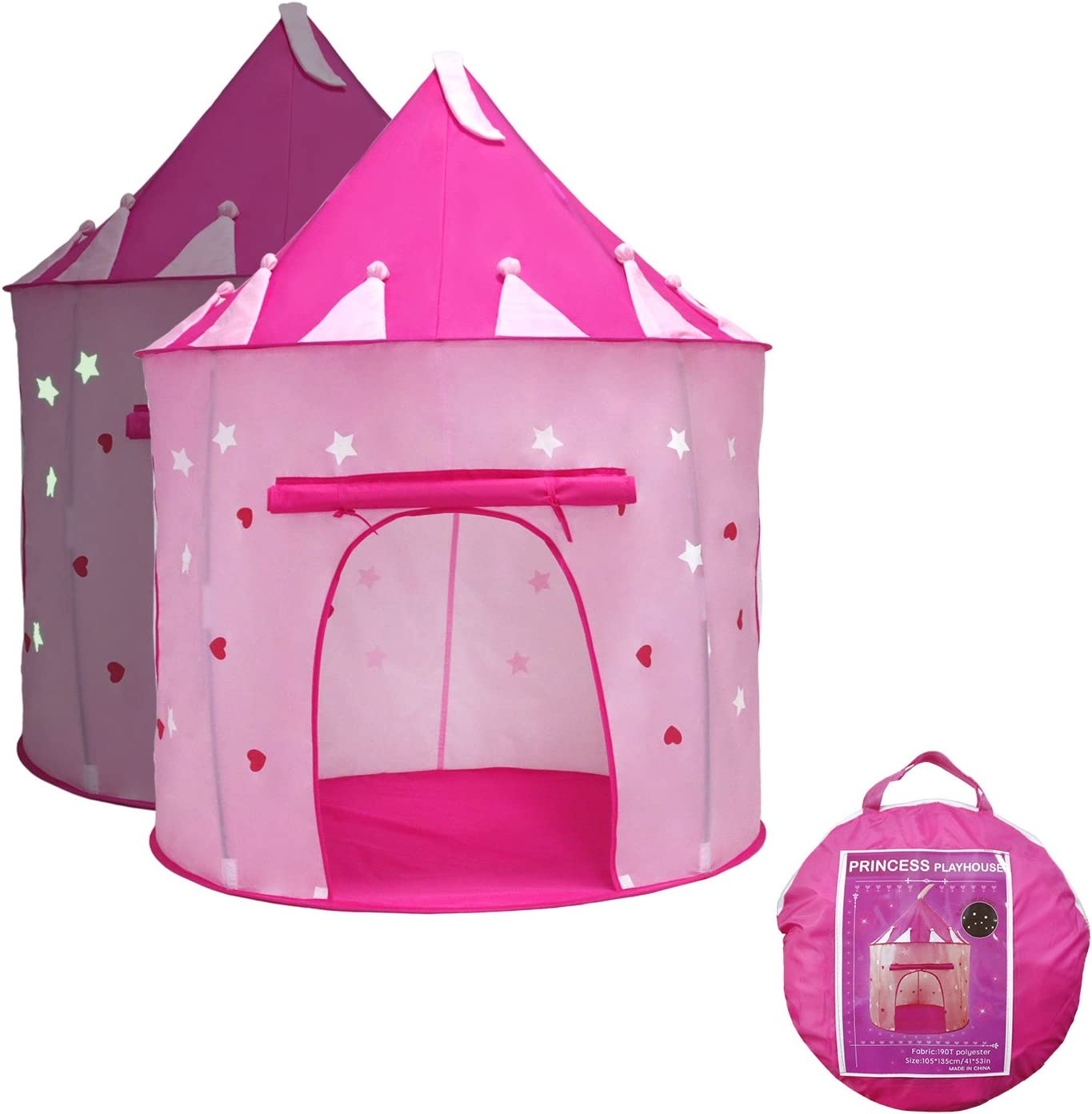 Yoobe Princess Castle Play Tent with Glow in the Dark Stars DOWN TO £12.99 @ Amazon