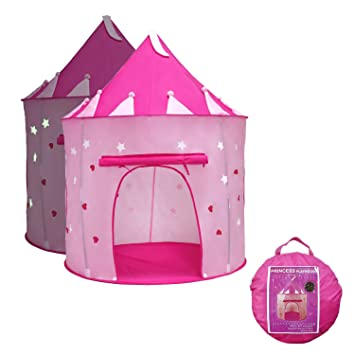 Yoobe Princess Castle Play Tent with Glow in the Dark Stars your kids will enjoy  sc 1 st  Amazon.com : kids glow tent - memphite.com
