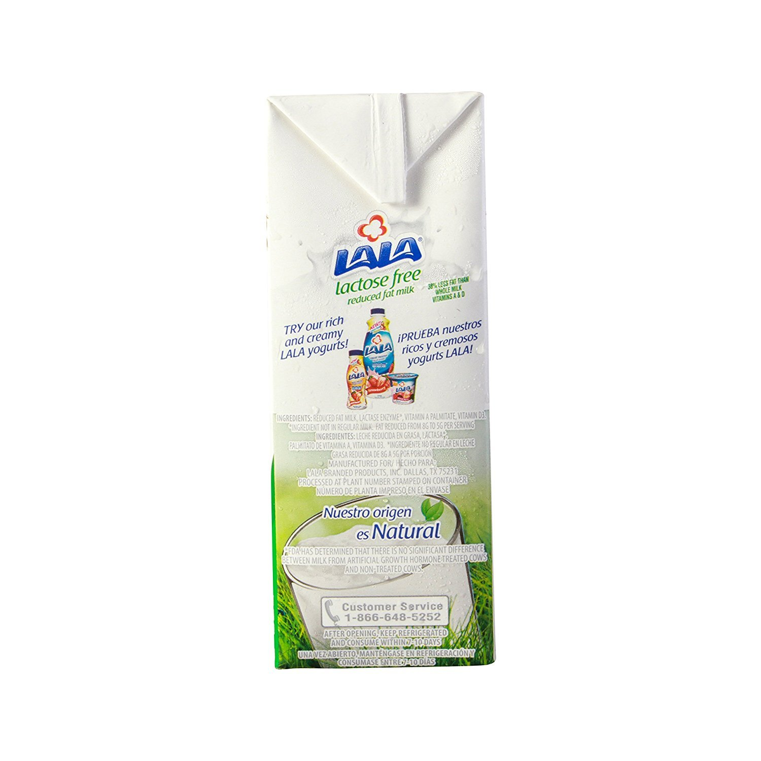 LALA Lactose Free Reduced Fat Milk - 1qt (946 mL): Amazon.com: Grocery & Gourmet Food