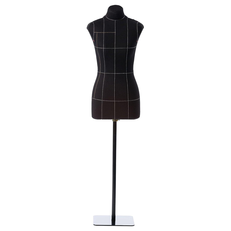 Half-scale Mini Mannequin Premium Female Sewing Dress Form 1:2 Soft Tailor Black