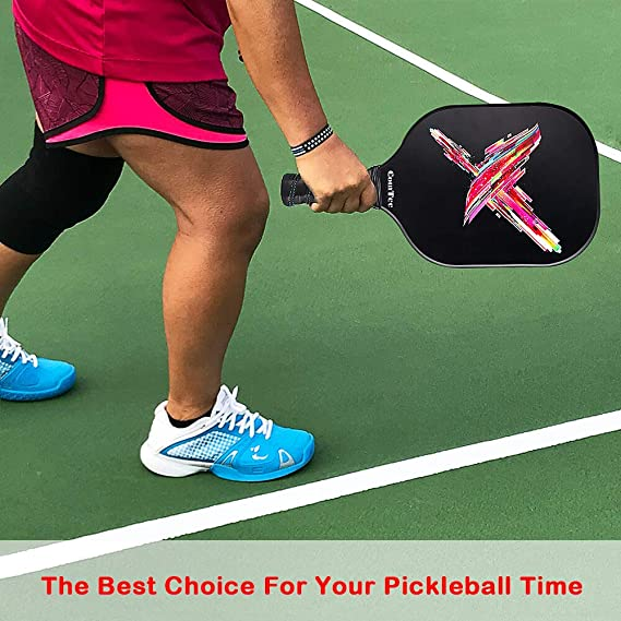 Amazon.com : Pickleball Paddle, Graphite Pickleball Racquets Lightweight 8ounce Composite Core Sweat Absorbent Cushioned Grip Edge Guarded, Full Cover Case ...