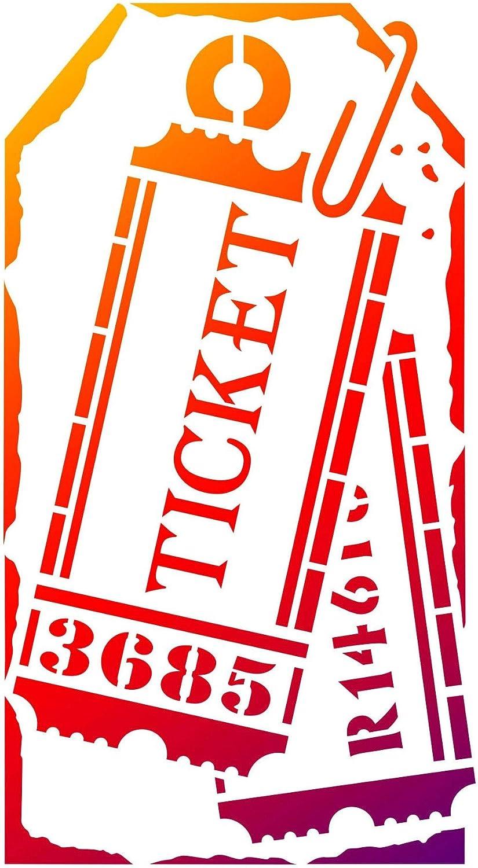 """Viva Decor Universal Stencil 5.83""""x8.27""""-label Tickets"""