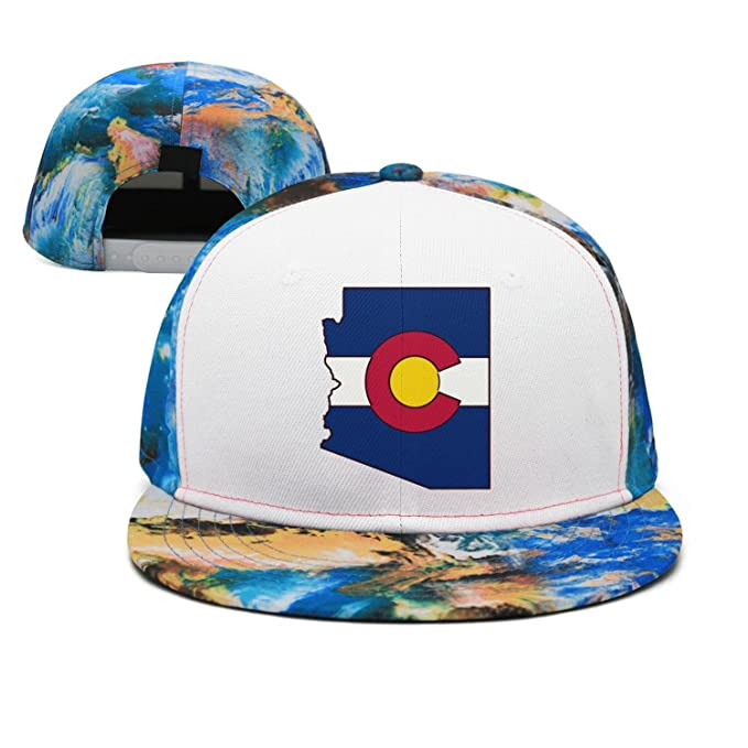 5ff3acc75 Godfer Arabe Colorado Flag Art Prints Flat-Brim Baseball Caps ...