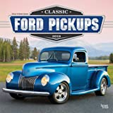 Classic Ford Pickups 2019 12 x 12 Inch Monthly Square Wall Calendar with Foil Stamped Cover, Motor Truck