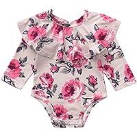 Ensemble de Vêtements Bébé CIELLTE Naissance Infantile Fleurs Col Combinaisons Couleur Unie Festival Mariage Filles Romper T-Shirts Automne Hiver