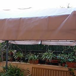 Plicosa M279702 - Toldo Recambio pergola 3 x 3 Metal Crudo: Amazon.es: Jardín