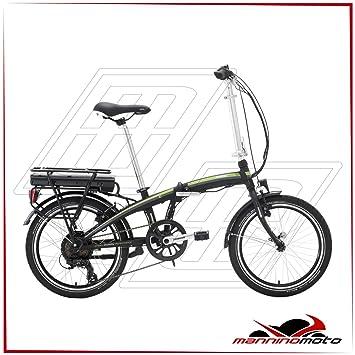 Bicicleta eléctrica plegable Lombardo 20 e-ischia – 2017 única negro, verde