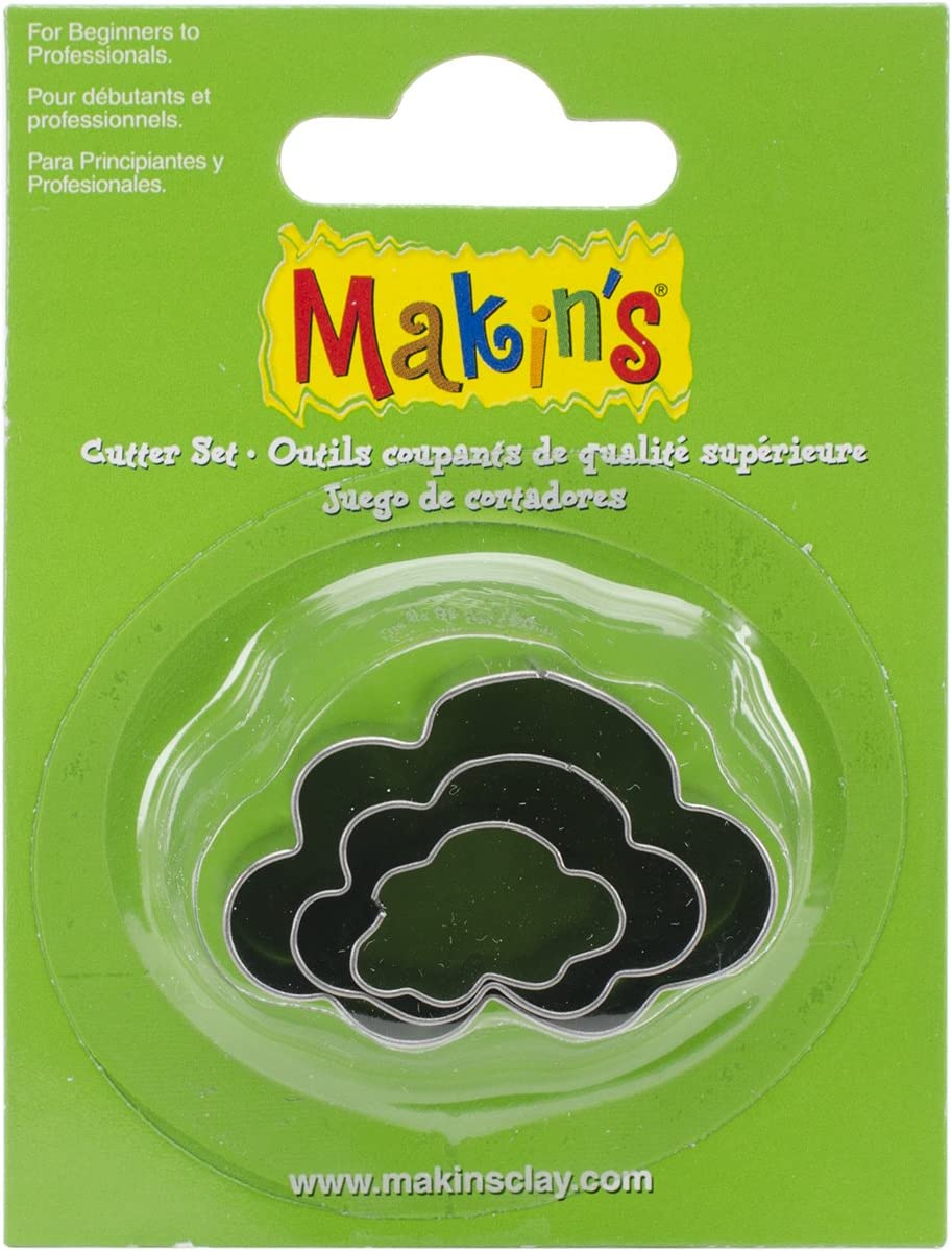 Makin's USA Ultra-Cheap Max 54% OFF Deals Clay 3 Pkg-Cloud Cutters