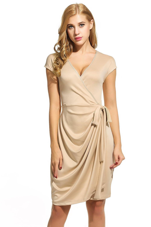 a6f67ccbd545 Top 10 wholesale 3 4 Length Sleeve Wrap Dress - Chinabrands.com