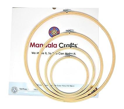 Amazon.com: Mandala Crafts 4 Mini Large Bulk Circle Round Bamboo ...