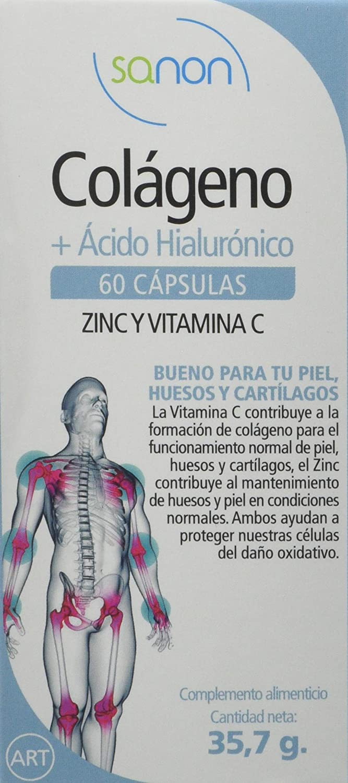 SANON - SANON Colageno + Acido Hialurónico 60 capsulas de 595 mg: Amazon.es: Salud y cuidado personal