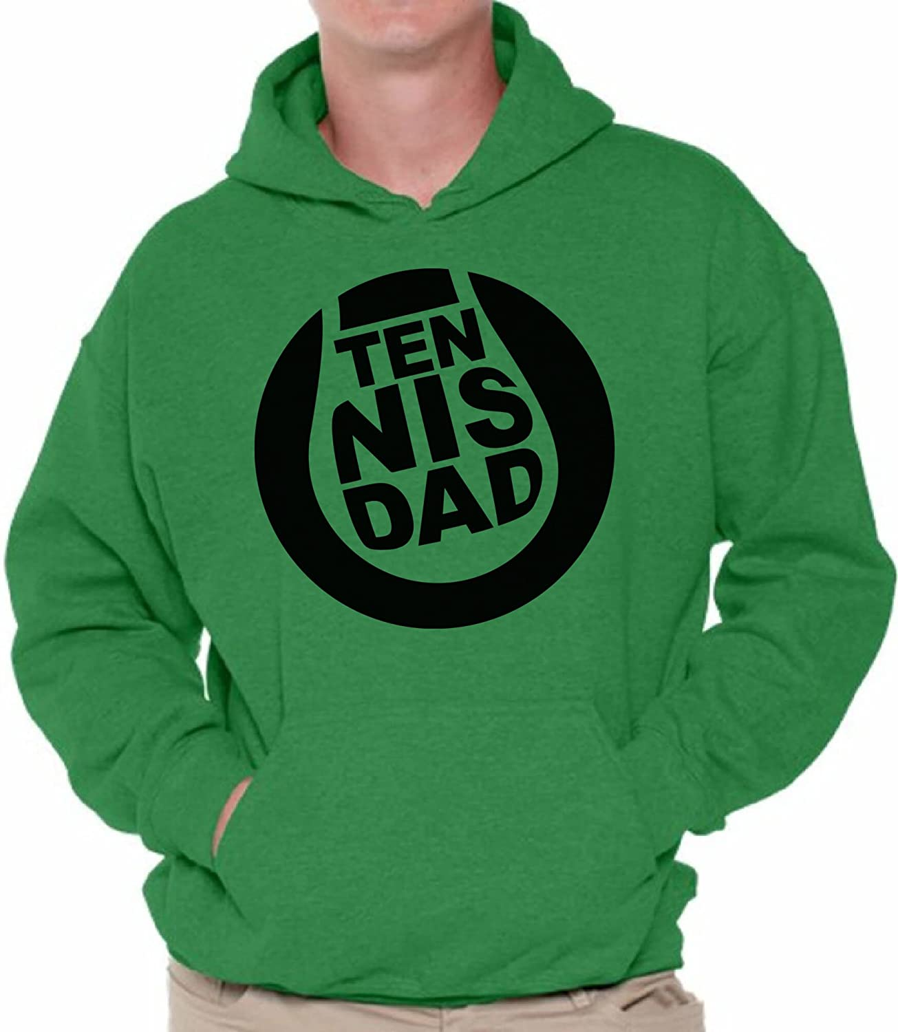 Awkward Styles Mens Tennis Dad Sport Father`s Hoodie Hooded Sweatshirt Tennis Lover Gift Fathers Day