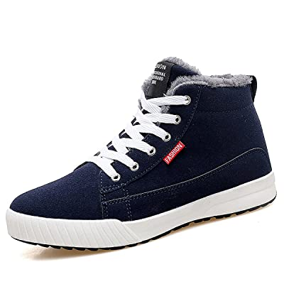 gracosy Snow Warm Sneaker, Lace Up Ankle Boots Fashion Flat Platform High Top Winter Shoes with Fur Lining for Women and Men | Fashion Sneakers